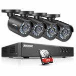 ANNKE 4CH 1080P Lite DVR Outdoor Security Camera System with 1TB HDD and 4x HD TVI 720P Bullet Camera