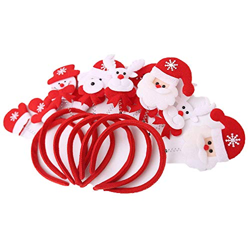 MAXGOODS 4 Pieces Christmas Headband