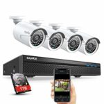 SANNCE Expandable 5MP 8CH True POE Security System 4x2MP Surveillance Indoor Outdoor Cameras