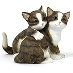 Let's play Twin Tabby Cat Ornament