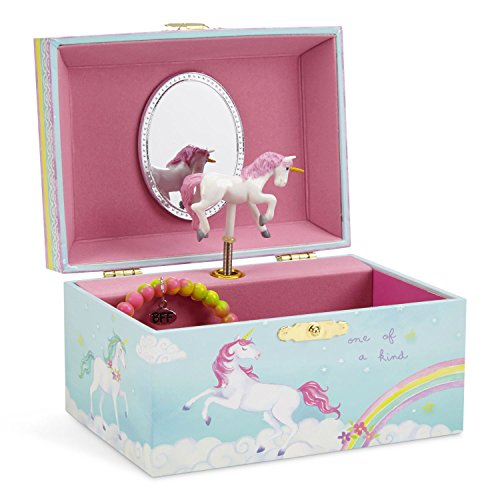 Jewelkeeper Girl's Musical Jewellery Storage Box with Spinning Unicorn