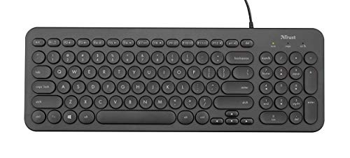 Trust Muto Wired Full Size Multimedia Keyboard for PC and Laptop