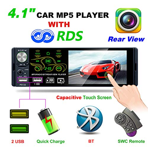 Bosszi 2019 Newly Designed 4.1 Inch Bluetooth Car Stereo with 1080P Touch Screen