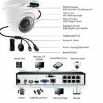 Home CCTV System with 4X 1440P Two Times 1080P Outdoor IP Cameras and 2TB Hard Drive NVR