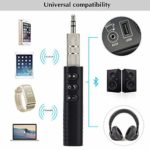 Hirkase Bluetooth Receiver Mini Wireless Portable Bluetooth 4.1 Wireless with HiFi Stereo 3.5 mm AUX Clip Design and Aux Input for Mobile Phone Home Car Music