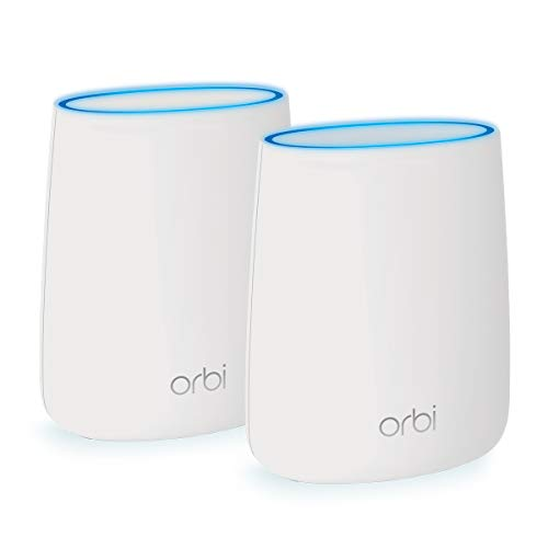 NETGEAR Orbi Tri-band Whole Home Mesh Wi-Fi System with 2.2Gbps Speed (RBK20) – Router & Extender Replacement Covers Up to 3