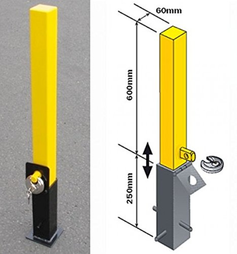 Security post removable heavy duty with padlock