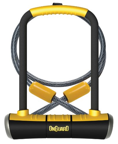 OnGuard 8005 Pitbull DT U-Lock with 4-Inch Cinch Loop Cable
