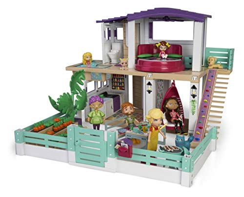 Mymy City-Holiday House Furnished Dollhouse for Boys and Girls Ages 3 Years (Famosa 700015599)