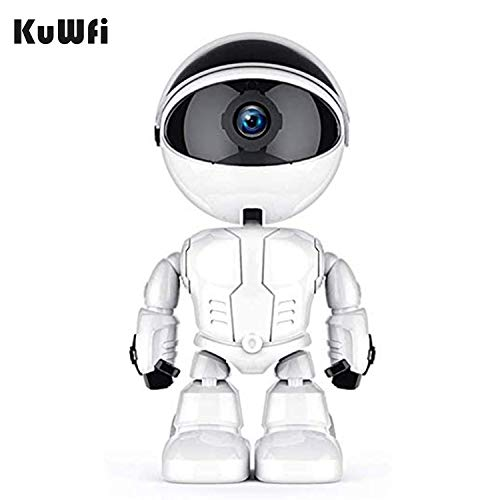 KuWFi WiFi IP Camera Baby Monitor 1080p Automatic Surveillance Camera for Home Security Robot Wireless IP Camera Home Security Pet Monitor Motion Two-Way Audio Motion and Sound Detection