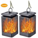 FLOWood Solar Lanterns Lights with Outdoor Dancing Waterproof Hanging Solar Flame Lamp Powered LED for Garden Landscape Decoration Pathway Patio Deck Yard 2 Pack