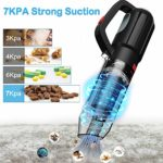 7Kpa Cordless Hoover Rechargeable Vacuum Cleaner with LED Light