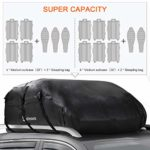 560 Liters Large Rooftop Cargo Carrier Bags Waterproof Folding Soft Luggage Storage Bag for Any Cars with/without Roof Rack/Rails/Bars