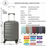 Carry On Hand Travel Luggage Suitcase Approved for Ryanair