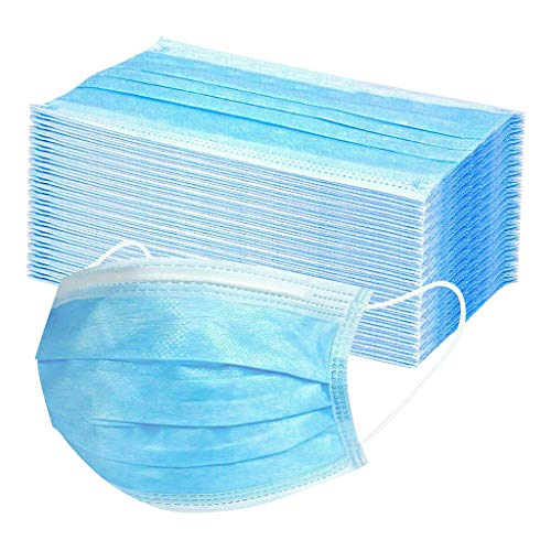 YIlanglang 50/100/200/500/1000 Pcs Disposable_Face_Masks with Elastic Earloop 3-ply Mouth Covering Adults Face Bandanas Mouth Hygiene Protection Pads