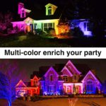 2 Pack Dimmable Color Changing Floodlight with Remote Control