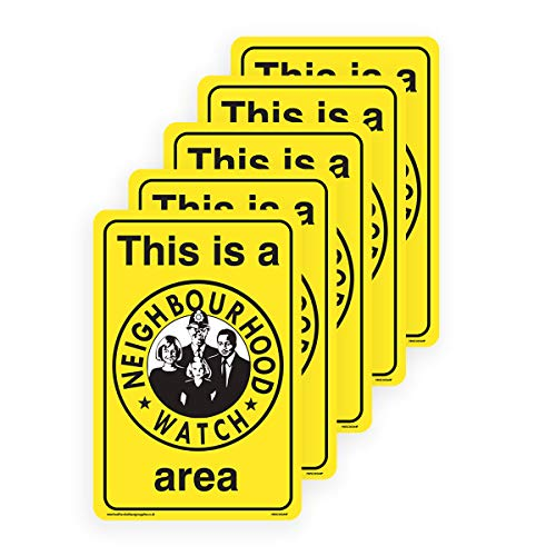 This is a Neighbourhood Watch Area - Yellow Sign - Security Signs [3mm Aluminium Composite