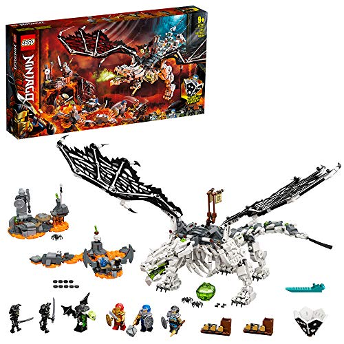LEGO 71721 NINJAGO Skull Sorcerer's Dragon Toy 2in1 Building Set & Board Game with Skeleton Army Figures