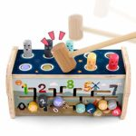 Wooden Hammer Pounding Bench Toys & Xylophone Musical Pounding Toy Montessori Maze Game 3 in 1 Fine Motor Skills Educational Toys Hammering Baby Toy Early Development Gift for Boys Girls 3+ Years Old