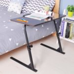 soges Adjustable Lap Table Portable Laptop Computer Stand Desk Cart Tray Notebook Lap Side Table for Bed Sofa Hospital Nursing Reading Eating 80x40cm