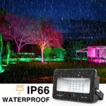 IP66 Waterproof Outdoor Colour Flood Lights with 16 Colors