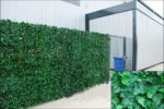 Welsh Green Screen Large Ivy Artificial Screening Leaf Hedge Panels on Roll Privacy Garden Fence