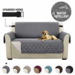 Sofa Slipcover Reversible Sofa Cover 2 Seater Furniture Protector Cover with Adjustable Elastic Straps