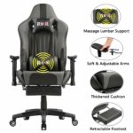 Remaxe Large Size Computer Gaming Chair Ergomonic Racing Chair with Retractable Footrest