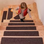 """DanceWhale Set of 15 Carpet Stair Treads (8"""" X 30"""") Non Slip Adhesive Carpet Step Mats Covers Safety Rug Slip Resistant Indoor Runner for Kids Elders and Pets"""