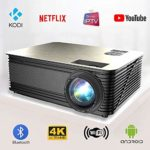 Smart Projector Android 6.0 WiFi Bluetooth Full HD 1080p Native