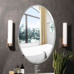 MX.home Frameless Round Wall Mirror Bevelled Edge Silver Glass Vanity Bathroom Wall Mirror (50x70CM oval): Amazon.co.uk: Kitchen & Home