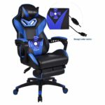 YOURLITEAMZ Racing Gaming Chair with Footrest Height Adjustable Reclining Computer Chair