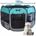 Mcdear Foldable Puppy Playpen Fabric Pet Pen for Dogs Cats Rabbits Small Animals Green: Amazon.co.uk: Pet Supplies