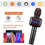 Microphone for Kids Microphones with Wireless Bluetooth Portable Handheld Karaoke Suitable for Boy Child Home Party Outdoor and Girls Toys Age 4-10 years old: Amazon.co.uk: Musical Instruments