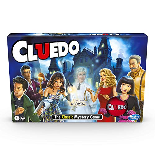 Hasbro Gaming Cluedo Game; Includes the Ghost of Mrs White Cards; Mystery Board Game for Children Aged 8 and Up: Amazon.co.uk: Toys & Games