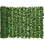 Artificial Hedges Fence and Faux Ivy Vine Leaf Decoration for Outdoor Decor