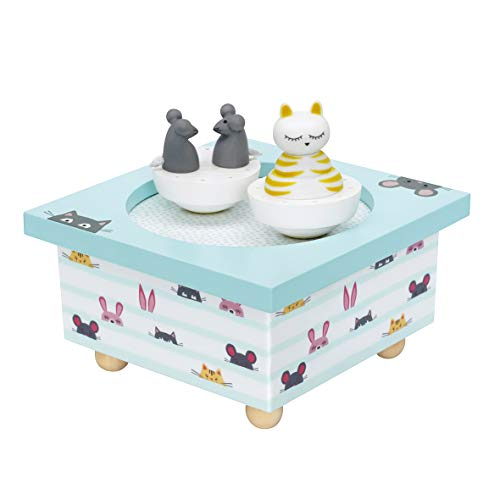 Trousselier Cat and Mouse Musical Wooden Box: Amazon.co.uk: Toys & Games