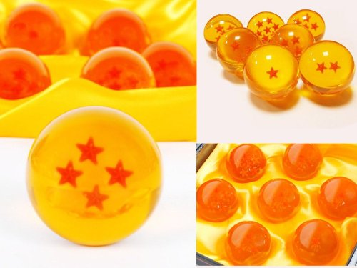 DragonBall Z - 7 Crystall Ball with Box / all Stars 1-7 includes FREE Delivery: Amazon.co.uk: Toys & Games