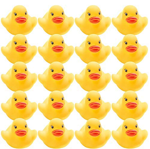 THE TWIDDLERS 75 - Bath Toys Rubber Duck - Vinyl Yellow and Orange Squeaky Bath Ducks - Ideal Toy for Indoor Outdoor Water Play - Great Party Bag fillers Christmas Favours: Amazon.co.uk: Toys & Games