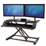 Fellowes Corsivo Height Adjustable Sit Stand Desk Converter with Gas Spring