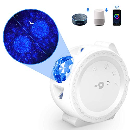 Galaxy Projector Light 3 in 1 Star Projector Night Light Kids 【Smart WIFI】 (Alexa/Google/APP) + Sound Sensor + Touch + Automatic Timer Nebula Projector for Party Bedrooms Christmas Birthday Decoration: Amazon.co.uk: Lighting