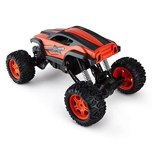 CMJ RC Cars Rock Crawler With Adjustable Chassis Climb 4 X 4 Monster Truck 4WD Remote Control Car 2.4Ghz (Orange 1:12): Amazon.co.uk: Toys & Games
