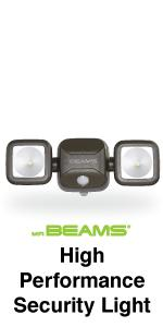 mr beams, mb3000, dual head spotlight, outdoor security spotlight, motion activated spotlight