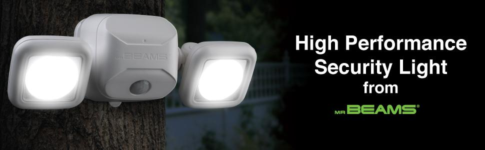mr beams, dual head spotlight, outdoor security light, wireless led spotlight
