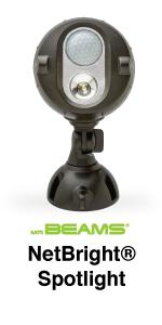 mr beams netbright, wireless networked lighting, outdoor security lighting