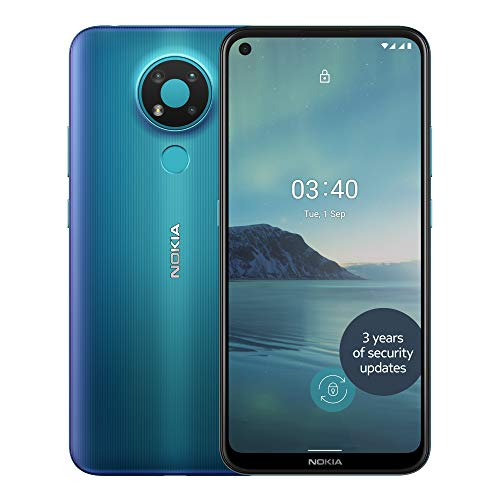 Nokia 3.4 6.39 Inch Android UK SIM-Free Smartphone with 3GB RAM and 32GB Storage (Dual SIM) - Fjord