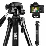 Camera Tripod ESDDI 70inches Compact Lightweight Aluminum Tripod with Phone Clip and Carry Bag for Smartphone and Dslr Canon Nikon Sony Olympus