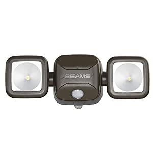 mr beams, mb3000, outdoor security light, wireless security light, dual head spotlight