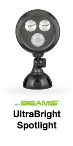 mr beams, mb390, ultrabright led spotlight, wireless outdoor spotlight
