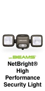 mr beams netbright, wireless networked lighting, networked dual head spotlight